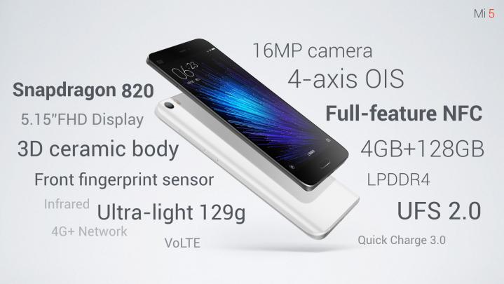 Комплектация Xiaomi Mi5