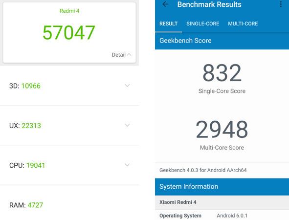 Benchmark Xiaomi Redmi 4 Pro